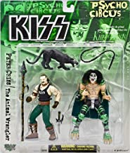 McFarlane Toys KISS Psycho Circus Action Figure 2Pack Peter Criss The Animal Wrangler King of Beasts [Holiday Gifts]