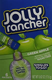 Jolly Rancher Drink Mix Green Apple -- 6 Boxes (36 Singles To Go Packs Total)