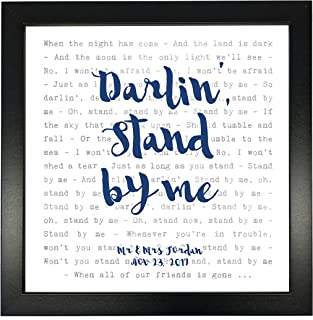 Ben E King, Stand By Me - Typography Song Lyrics Print Framed & Personalised