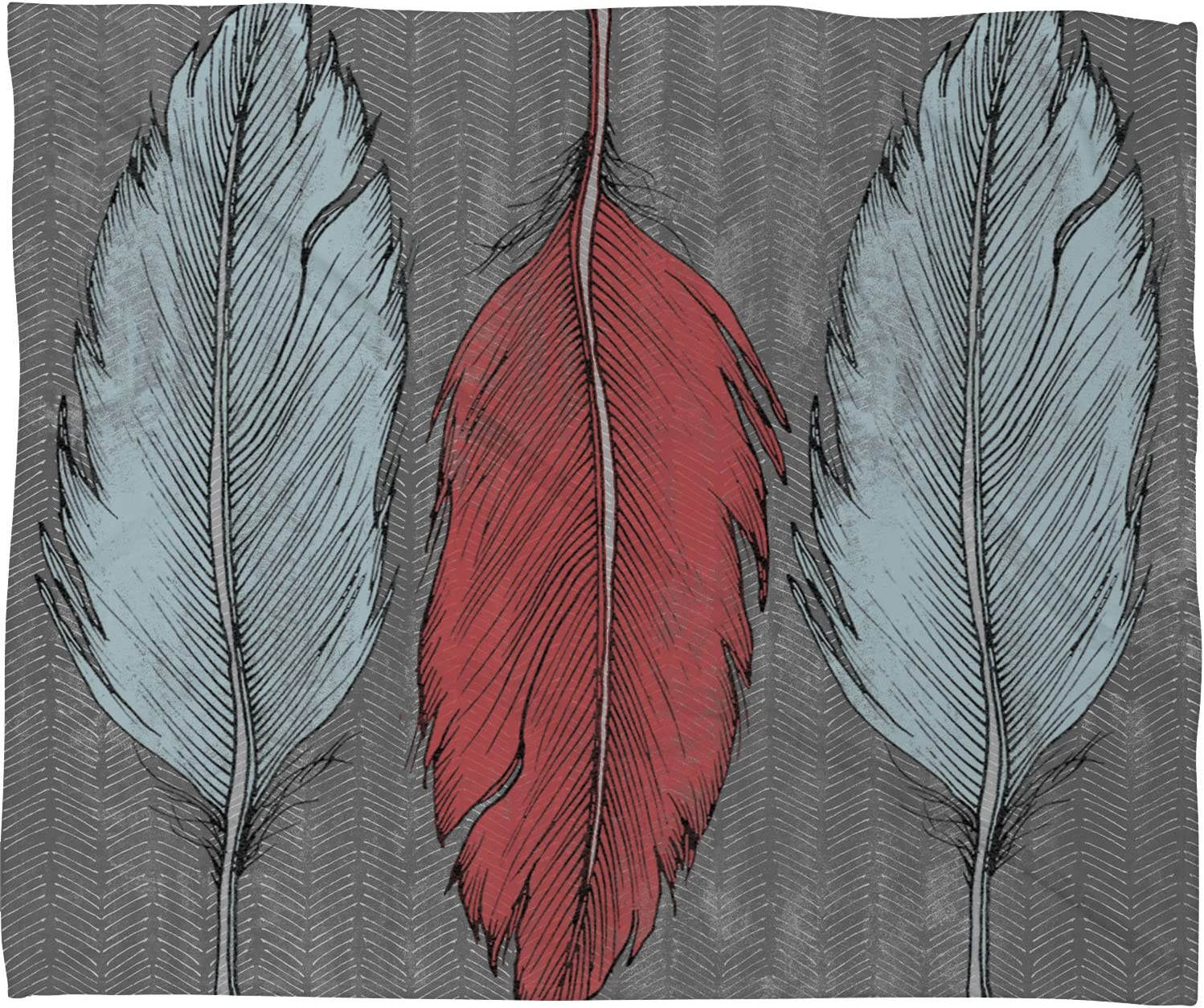 Deny Designs Recommended Wesley Bird Feathered Fleece Free shipping anywhere in the nation x 80 Blanket Throw 60
