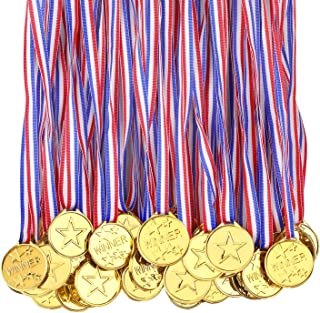 100 stuks medailles voor kinderen winnaars Plastic medailles Awards voor school Sport Dag of Mini Olympische Event