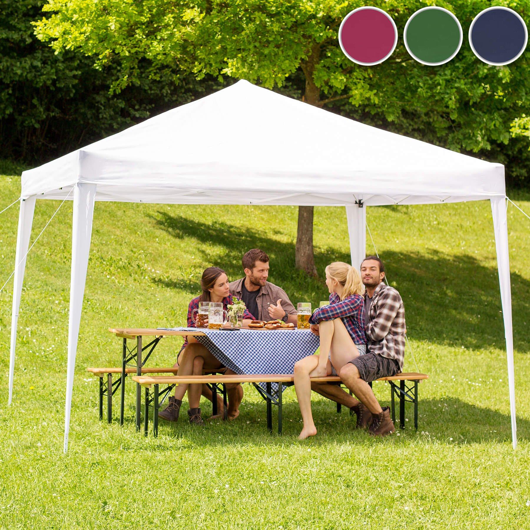 Pabellón de jardín de la marca TecTake, 3 x 3 m, plegable, con bolsa. Varios colores disponibles: Amazon.es: Jardín