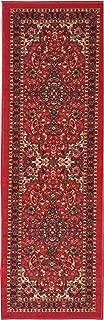 Ottohome Collection Persian Heriz Oriental Design Red Runner Rug (20