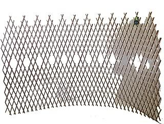 Master Garden Products WCT-48 Peeled Willow Picket Pattern Lattice Trellis Fence, Light Mahogany, 96