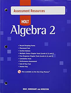 Holt Algebra 2 Assessment Resources With Answers