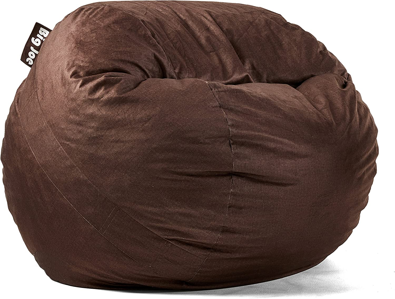Big Joe Lenox low-pricing Fuf SEAL limited product Foam Bag Cocoa Bean Filled Medium
