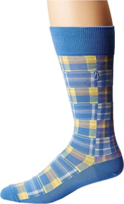 Madras Patchwork Socks
