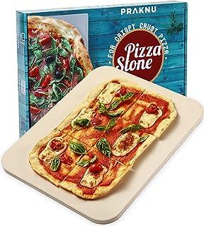 Planche à Pizza pour Barbecue et Four - Rectangulaire 30x38 cm - Pour Pâte Croustillante - Pierre à Pizza Refractaire