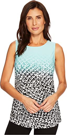 Calvin Klein - Sleeveless Print Top w/ Gathered Side