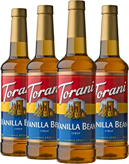 Torani Syrup, Vanilla Bean, 25.4 Ounces (Pack of 4)