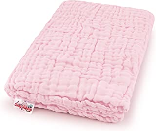 Coney Island Cotton Light Pink Muslin 6 Layer Multi Use Blanket Or Baby Towel Natural Antibacterial Large 45