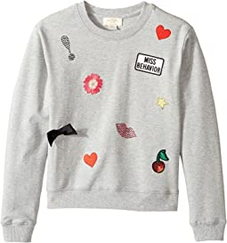 Kate Spade New York Kids - Patched Sweatshirt (Little Kids/Big Kids)
