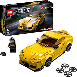 LEGO 76901 Speed Champions Toyota GR Supra Collectible Sports Car Toy Building Set with Racing Driver, for Kids 7+ Years Old