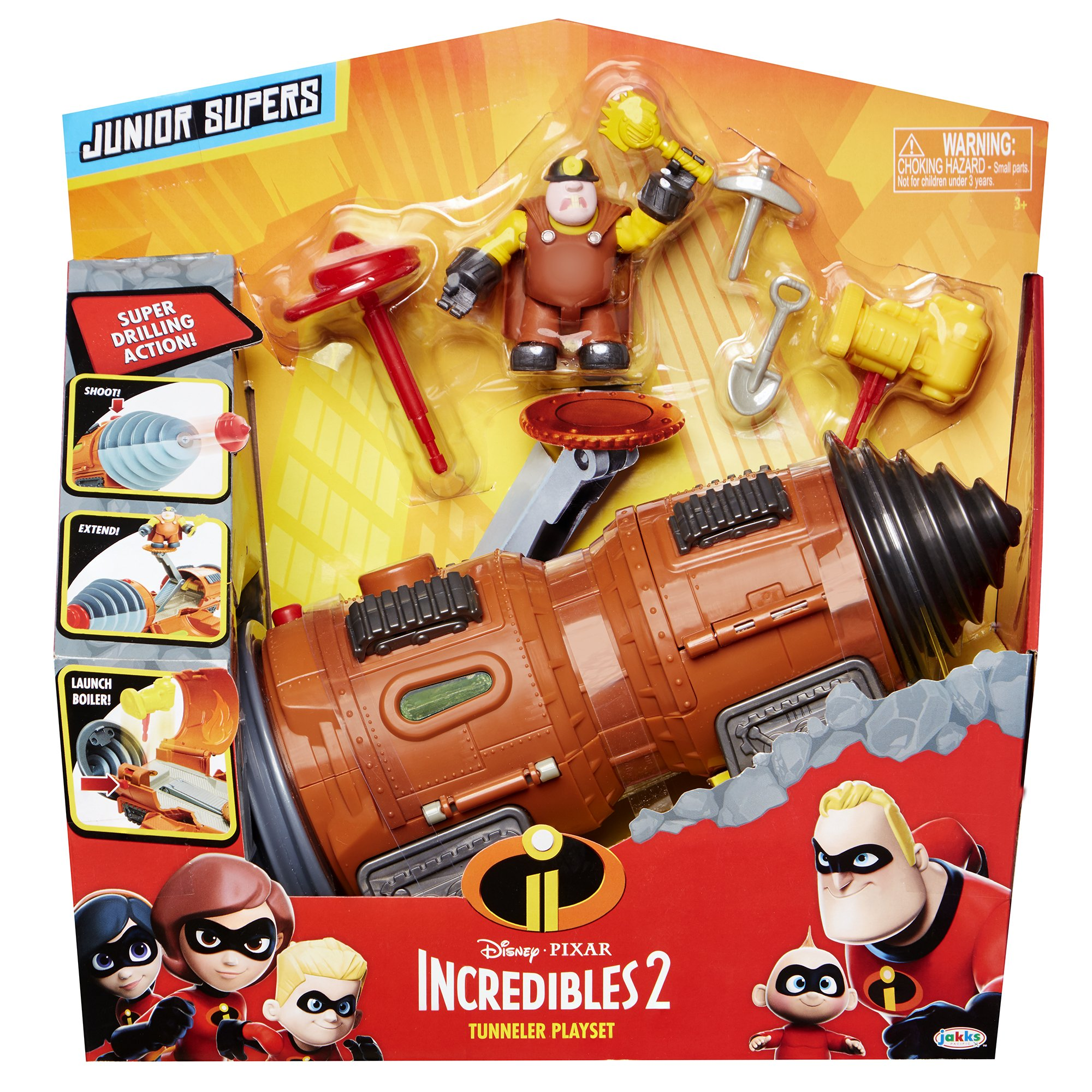 The Incredibles 2 Tunneler Vehicle Play Set with Junior Super Underminer Figure