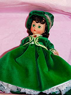 1989 - Madame Alexander #400 - Vintage Scarlett Jubilee II / Gone With The Wind- 8 Inches - Scarlett O'Hara / Green Velvet Dress - OOP / MIB - Rare - Collectible