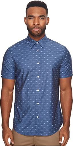 Ben Sherman - Short Sleeve Stretch Clip Dobby Woven Shirt