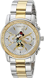 Invicta Women's Disney Limited Edition Quartz Watch with Stainless-Steel Strap, Silver, 20 (Model: 24394)