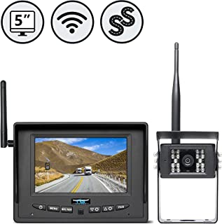 Rear View Safety Wireless Backup Camera System for RV, Truck, Bus (with Furrion Prewire Bracket) RVS-155W,