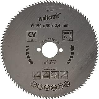 Wolfcraft 6277000 6277000-1 Hoja de Sierra Circular CV, 100 dient, Serie Azul diam. 190 x 30 x 2,4 mm, 190x30x2.4mm
