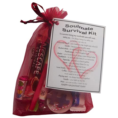ae657dd9852a SMILE GIFTS UK Soulmate Valentine s Survival Kit Gift (Great novelty present  for Valentine s day for