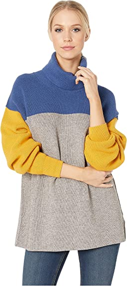 Softly Structured Color Block Sweater
