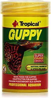 Tropical Żywność w płatku gupika dla gupików i żywych niedźwiedzi 100 ml