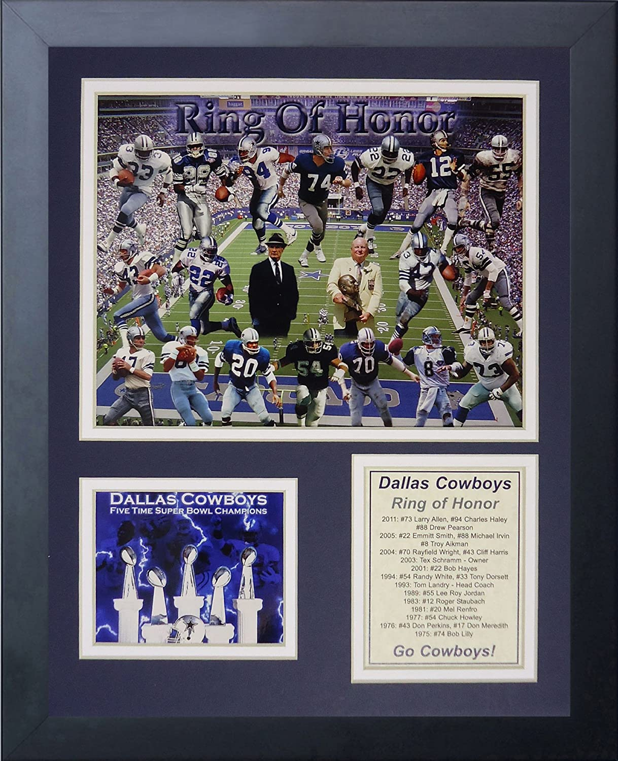 Legends Never Die Ranking TOP6 NFL Bargain All-Time Greats Photo Framed Collage