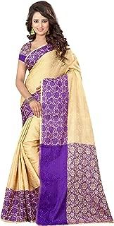 Bindani Studio women's Jackard silk saree with blouse material for partywear,festival
