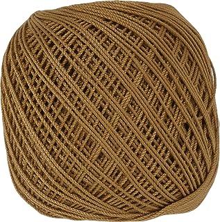 オリムパス製絲 金票 レース糸 #40 Col.736 ブラウン 系 10g 約89m 3玉セット