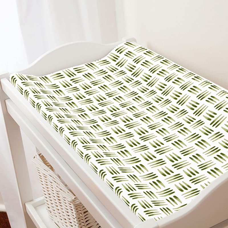Carousel Designs Sage Basket Changing Pad Cover Organic 100 Cotton Change Pad Cover Made In The USA