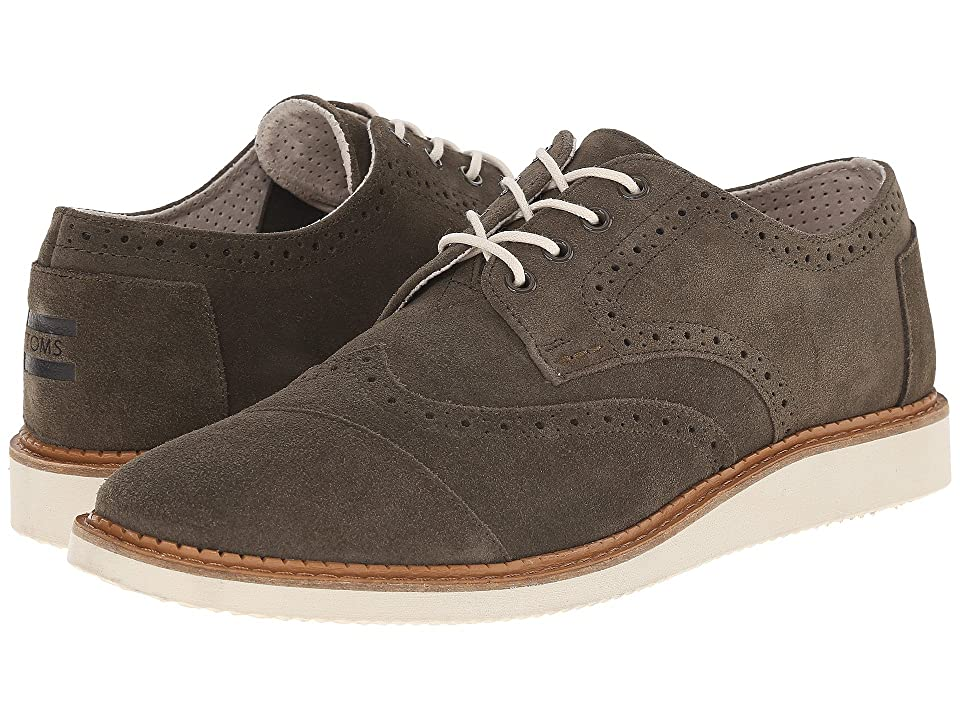 TOMS Brogue (Tarmac Olive Suede) Men