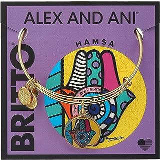 Hamsa Art Infusion Charm Bangle Bracelet AS16RB04YG
