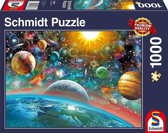 Planeten Rundpuzzle 1000 Teile 67 cm Erwachsenenpuzzle Weltraum Space Jigsaw