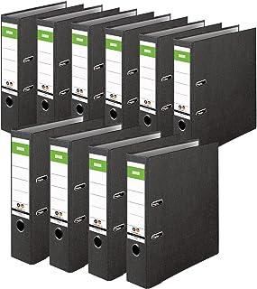 DINOR™ 15039820 Classeurs avec des couvertures papier marbré/noir, dos de 8 cm DIN A4, lot de 10- Fabriqué en Allemagne - ...