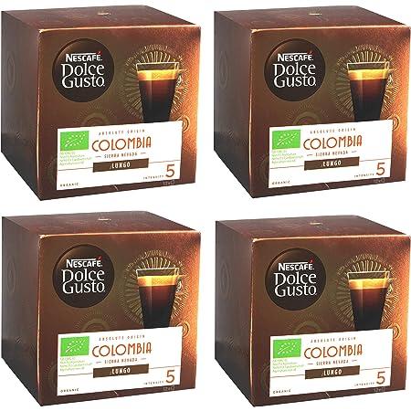 Nescafé Dolce Gusto Absolute Origin Colombia Sierra Nevada Lungo, Capsule Café Café Capsules Röstkaffee, Bio, 48 Capsules