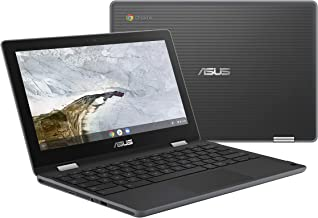 "Asus Chromebook Flip C214 Ruggedized and Water Resistant Chromebook Laptop, 11.6"" 360 Touchscreen 2 in 1, Intel N4000, 4GB LPDDR4 RAM, 32GB Storage, Mil-Std 810G, Chrome OS, C214MA-YS02T"