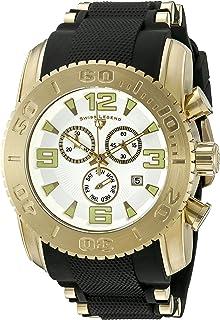 Swiss Legend Men's 10070-YG-02 Commander Pro Analog Display Swiss Quartz Black Watch