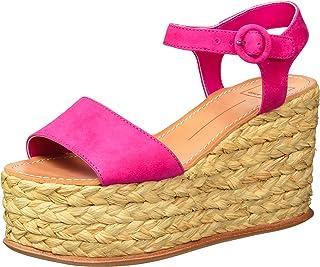 Dolce Vita Women's DANE Wedge Sandal, Fuchsia Suede,