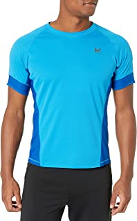 Mission Men's VaporActive Proton Short Sleeve Running T-Shirt, Bright Blue/Lapis Blue, Medium