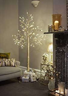 Jaymark Products 7ft Christmas Twig Tree Champagne Gold with 120 Pre Lit LEDs - Indoor & Outdoor