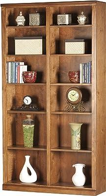 "Eagle Double Wide Coastal Bookcase, 84"" Tall, Concord Cherry Finish"