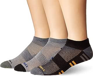 Merrell mens 3 Pack Cushioned Trainer Low Cut Socks Casual Sock - black - Shoe Size: 9.5-12