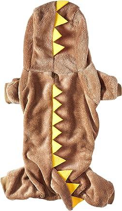 SMALLLEE_LUCKY_STORE Pet Dinosaur Pattern Four Legs Sweat Shirt, Brown, XX-Large