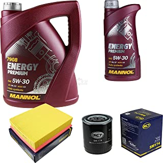 Filter Set Inspektionspaket 6 Liter MANNOL Motoröl Energy Premium 5W 30 API SN/CF SCT Germany Luftfilter Ölfilter