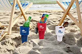 ANR Beach Cup Holders - Set of 3 - Multifunction Beach Sand Cup Holder Holder for Beverage Phone Sunglasses Sunscreen Key - 8