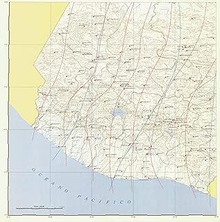 Map - Carta Isogonica De La Republica De Guatemala Para 1981 82, 1981 NOAA Magnetic - Vintage Wall Art - 44in x 44in