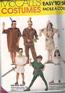 7745 McCalls Sewing Pattern UNCUT Mens Womens Halloween Costume Indian Scarecrow Cleopatra Mark Antony Size Adult