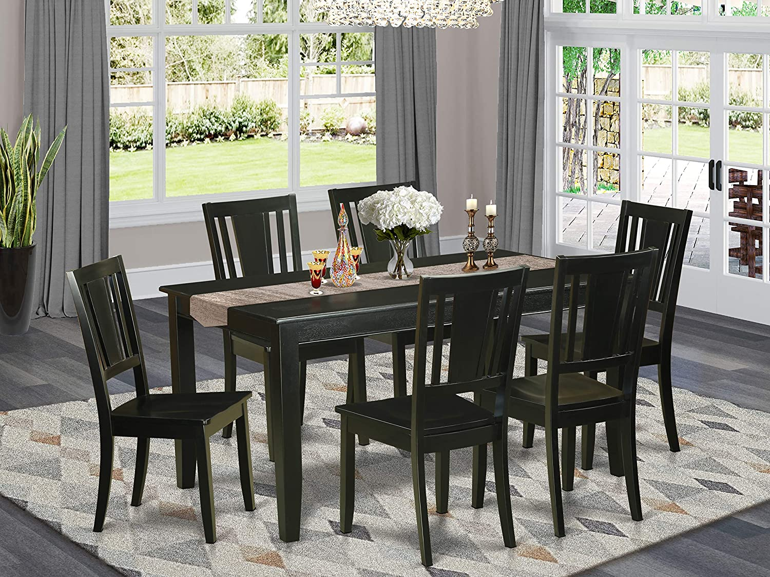 East West Furniture store Piece Dinette Set a low-pricing Rectangu Modern Included