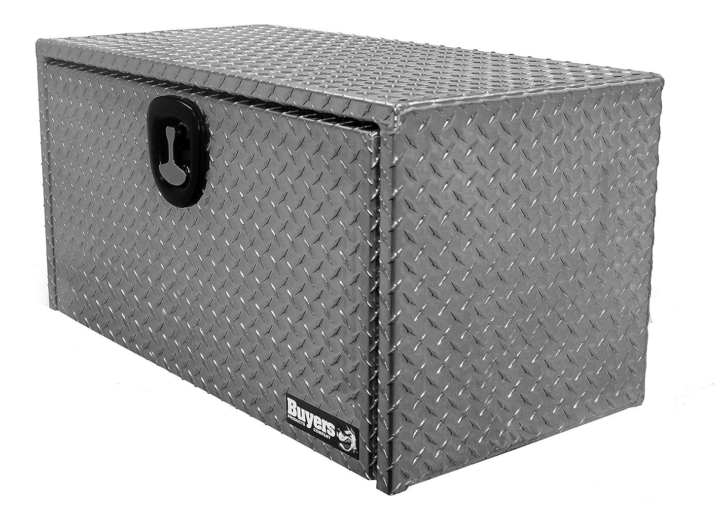 Buyers Products Diamond Tread Aluminum Underbody Truck Box w/ 3-Point Latch (18x18x36 Inch)