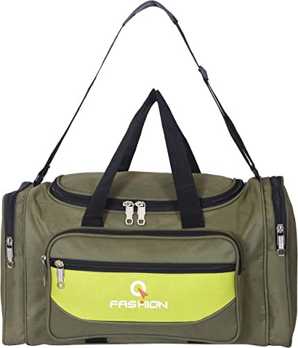42 Litres Polyester Travel Duffle Soft Sided Duffel With Water Proof Green 40 Cm Set 0F 1 Pcs Bags